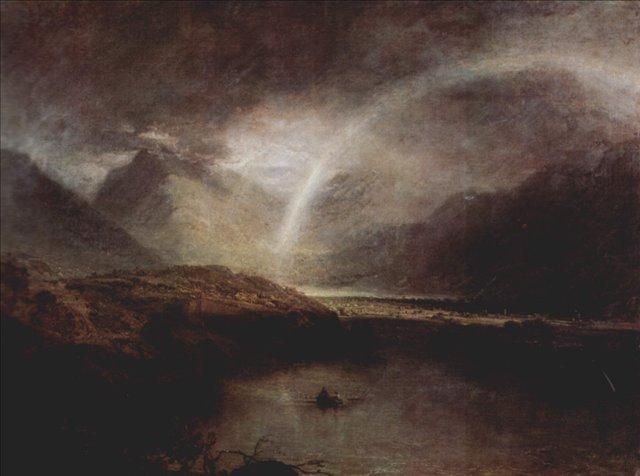 картина < Озеро Баттермер с видом на Кромакуотер в Камберленде >:: Уильям Тёрнер ( William Turner ) - Тёрнер Уйльям фото