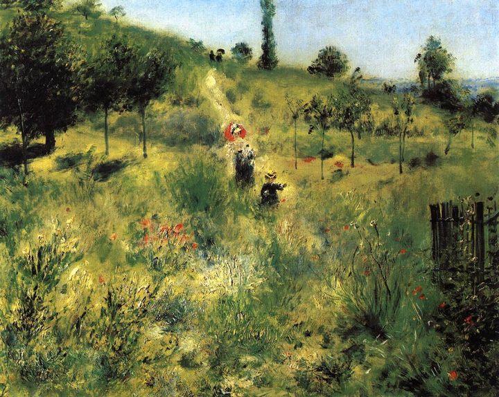 Путь через высокую траву :: Ренуар Пьер Огюст - Pierre-Auguste Renoir фото