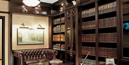 библиотека в английском стиле. кабинет библиотека.