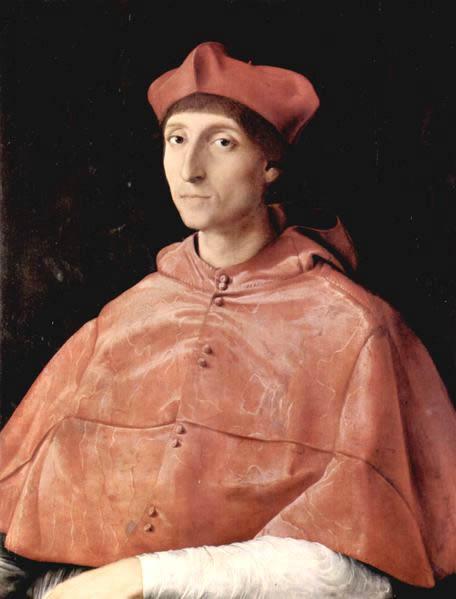 Рафаэль. Портрет кардинала. 1510, масло по дереву. Музей Прадо, Мадрид