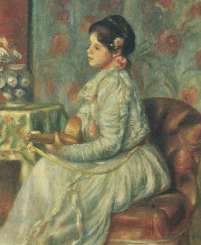 Картина <Гитаристка (Девушка, играющая на мандолине)>