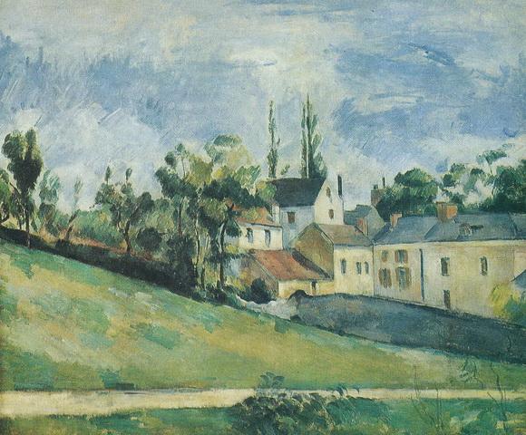 пейзаж <Дорога в гору> :: Сезанн, Поль (Cezanne, Pau)