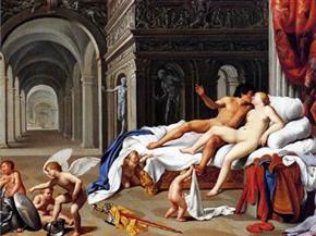 картина  Карло Сарачени, Венера и Марс