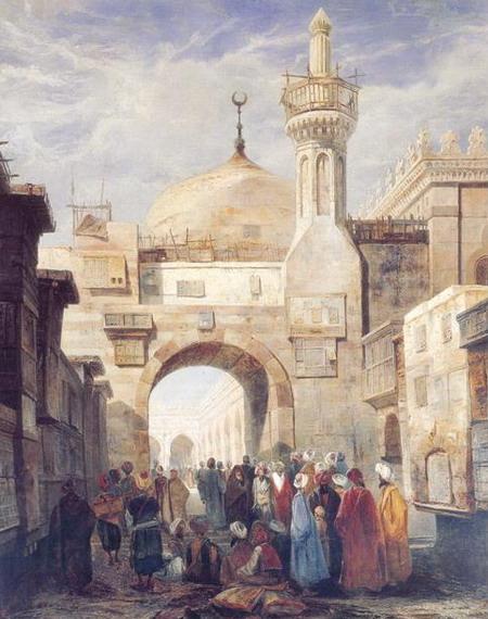Адриэн Дузатс. Мечеть Ал Азхар в Каире. 1831 (Париж, Национальная Ассамблея)