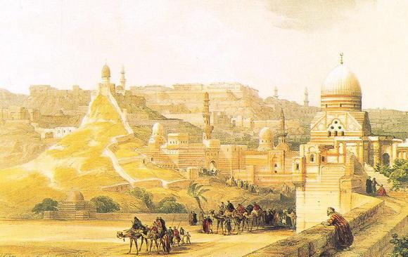 Луис Хагх (литография), Дэвид Робертс (акварель). Цитадель Каира. 1838 – 1839 (Лондон, Музей Виктории и Альберта).
