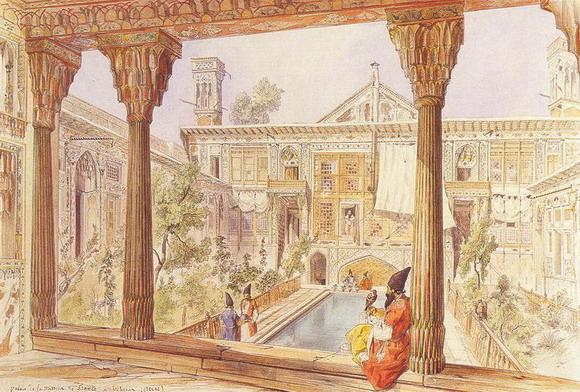 Жуль Лоренс. Дворец Французской Миссии в Тегеране. 1846 – 1849 (Частная коллекция)