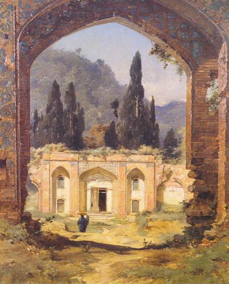 Жуль Лоренс. Руины дворца Асрафа. 1880-е. (Карпентраш, Библиотека Ингуимбертин)