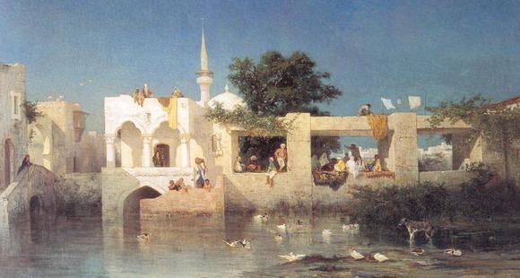 Шарль де Тоурнемин. Турецкий дом в Адалии. 1856. (Париж, Музей Д'Орсэ)