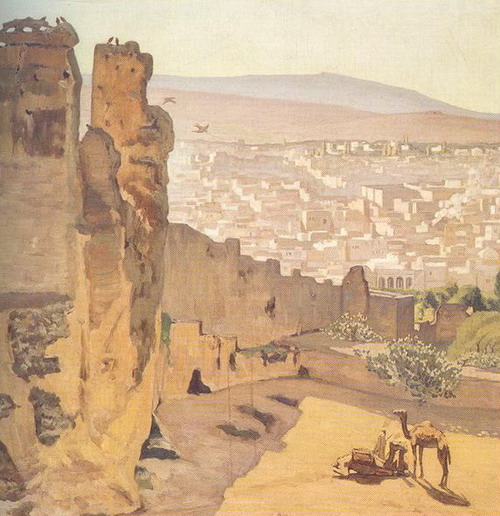 Азоау Маммери. Вид города Фес. Середина 19 в.  (Париж, Музей Д'Орсэ)