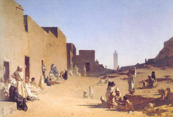 Густав Гуйллаумэ. Лагуат, Алжирская Сахара. 1879. (Париж, Музей Д'Орсэ)