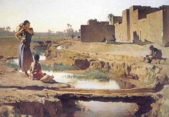 Густав Гуйллаумэ. В окрестностях города Бискра. 1885 г. (Париж, Музей Д'Орсэ)