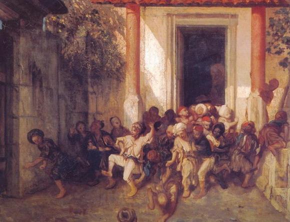 Александр Габриэль Декамп. Конец учебного дня в турецкой школе. 1836 (Париж, Лувр).