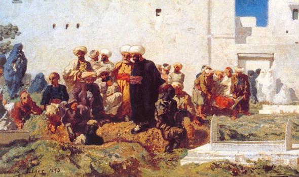 Эжен Фроментин. Марокканские похороны. 1853. (Париж, Лувр)