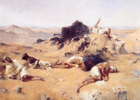 Эжен Фроментин. Земля жажды. 1869.  (Париж, Музей Д'Орсэ)