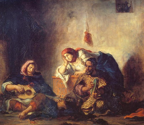 Эжен Делакруа. Еврейские музыканты Могадора. 1847. (Париж, Лувр)