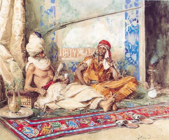 Аттилио Симонетти. Арабский интерьер. 1871. (Частная коллекция)