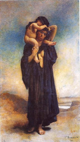 Леон Бонна. Женщина с ребенком. 1870. (Байон. Музей Леона Бонна)