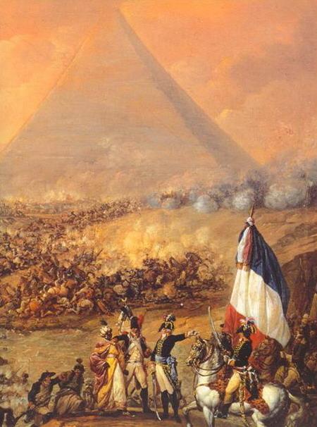 Франсуа Луис Жосеф Ватто. Битва под пирамидами  21 июля 1798 года. 1799 г. (Валенсия, Музей изящных искусств).