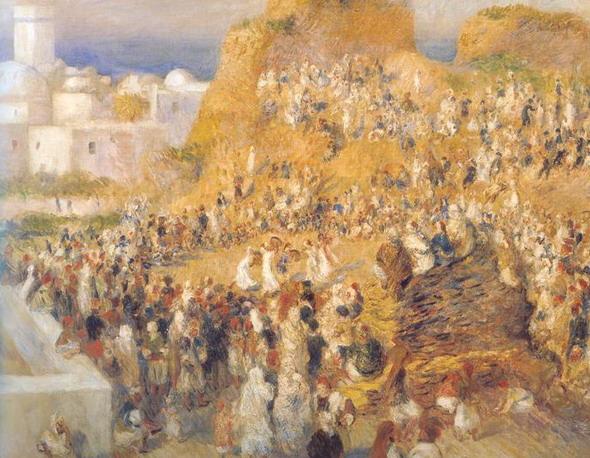 Огюст Ренуар. Арабский праздник. 1881. (Париж, Музей Д'Орсэ)