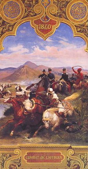 Хорас Вернэ. Битва под холмами Эффрона. (Победа французов над кавалерией Халифата Миллианаха 27 апреля 1840). 1845. (Версаль, Национальный музей Шато).