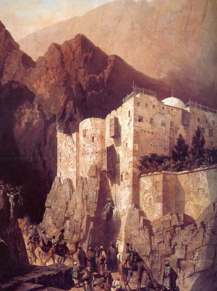Адриен Даузатс. Монастырь святой Екатерины на горе Синай. 1845. (Париж, Лувр)