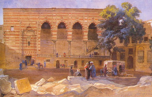 Фрэнк Диллон. Ал Макхамах. (Акварель, карандаш). 1869 (Лондон, Музей Виктории и Альберта)