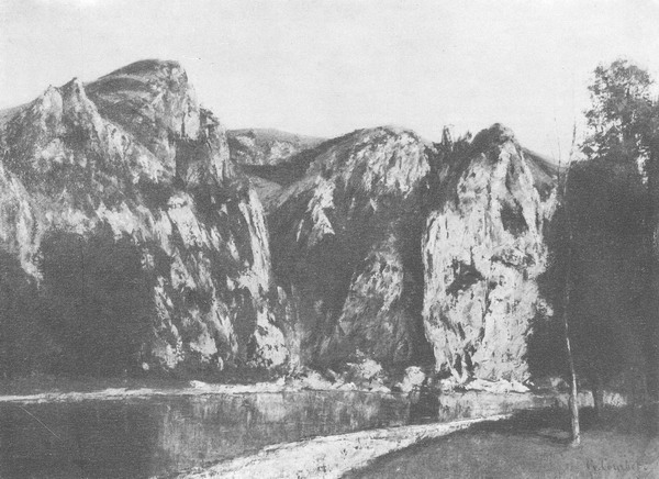 картина <Река Маас близ Фрейера> КУРБЕ, ГЮСТАВ ( COURBET, GUSTAVE )