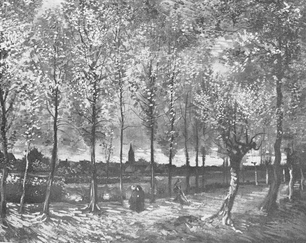 картина <Аллея тополей близ Нюэнена осенью> ВИНСЕНТ ВАН ГОГ (  VAN GOGH, VINCENT )