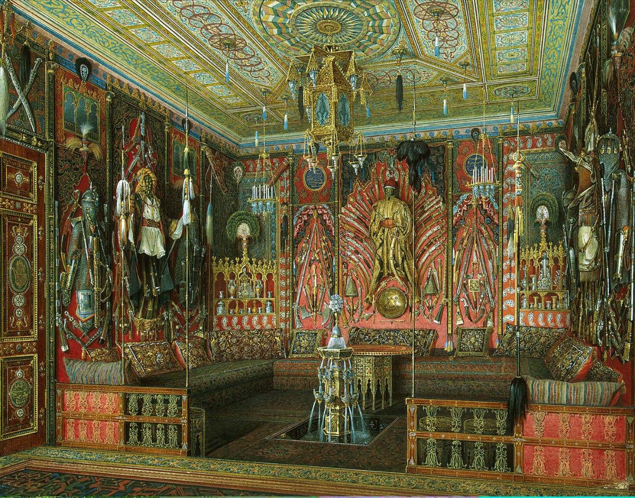 Картина Турецкая комната в Екатерининском дворце Царского Села :: Эдуард Гау - Арабский стиль фото
