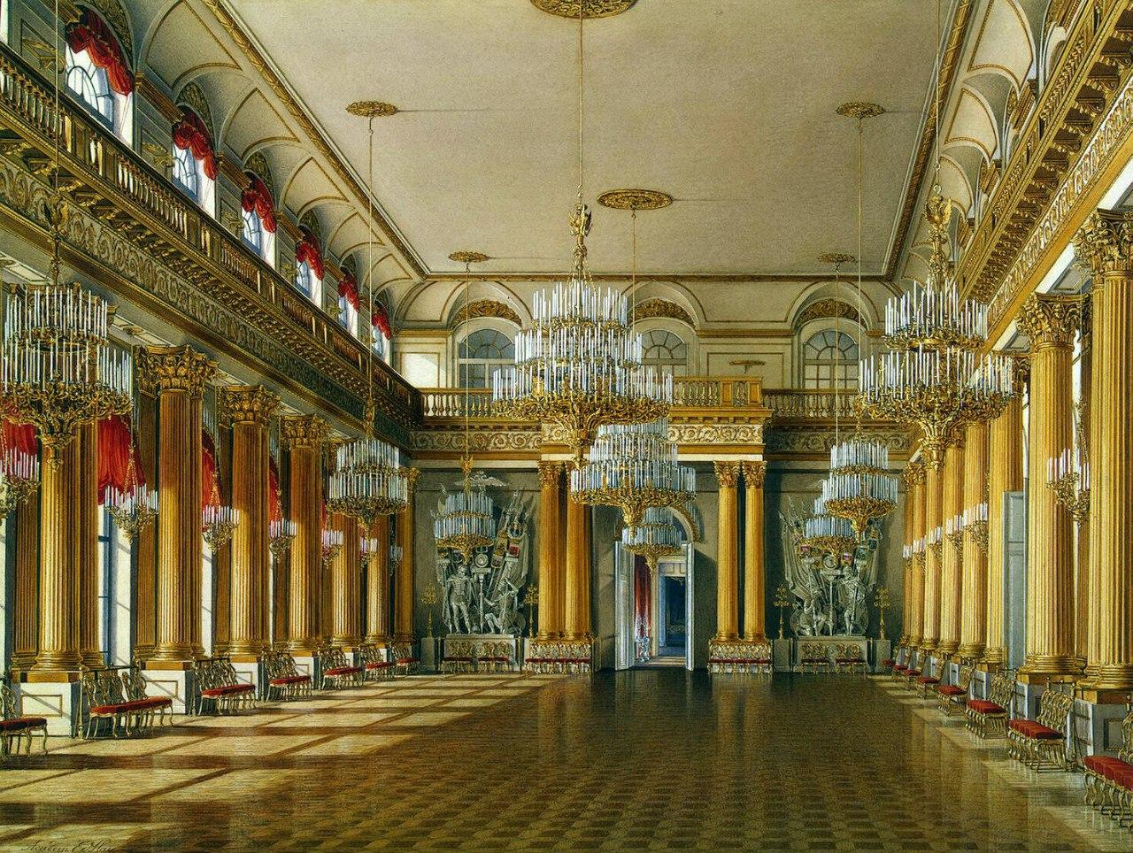 Картина Гербовый зал :: Эдуард Гау - Барокко, Ампир, Возрождение, Роккоко ( дизайн интерьера) фото