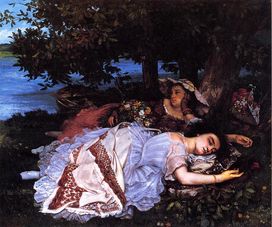 an analysis of the painting hunting dos by jean desire gustave courbet