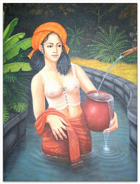 Сельская красавица :: Гобанг ( Бали, Индонезия ) - НЮ - современная эротическая живопись фото