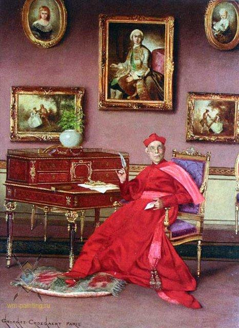 Письмо  :: Жорж Кроегаэр - Барокко, Ампир, Возрождение, Роккоко ( дизайн интерьера) фото