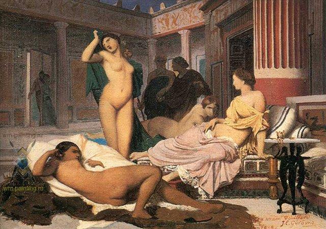 Итерьер греческой виллы :: Жан Леон Жером - Античный - греческий, римский декор интерьера фото