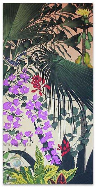 Птичий дворец :: Гобанг, описание картины  - Современная живопись Индонезии фото