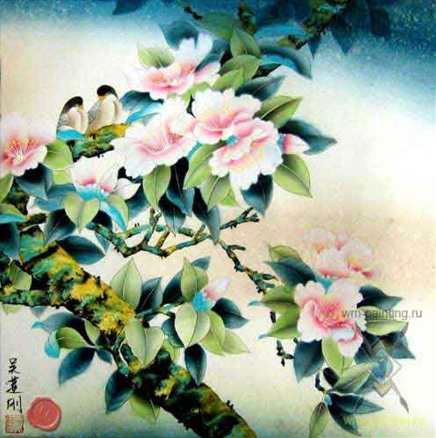 цветы и птицы :: Ву ЛинГанг - Китай традиционная живопись Гохуа фото