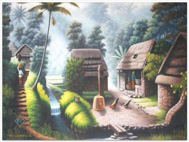 картина Сельский пейзаж :: Гобанг ( Бали ) - пейзажная живопись фото