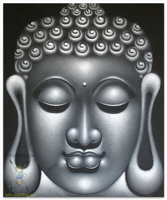 картина Серые раздумья Будды :: Гобанг (  Бали ) - Современная живопись Индонезии фото