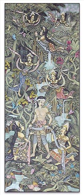 картина Сказка :: Гобанг ( Бали ) - Современная живопись Индонезии фото
