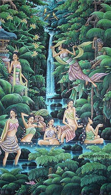 картины Джака Таруб :: Гобанг ( Бали) - Современная живопись Индонезии фото