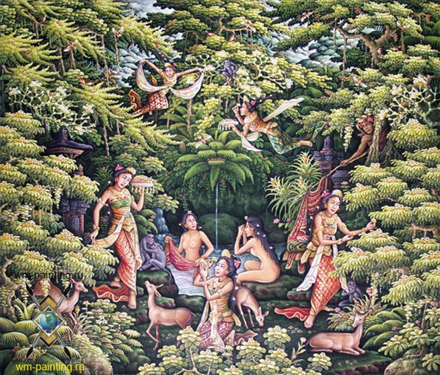 картина Легенда ( Джака Таруб) :: Гобанг (Индонезия, Бали) - Современная живопись Индонезии фото