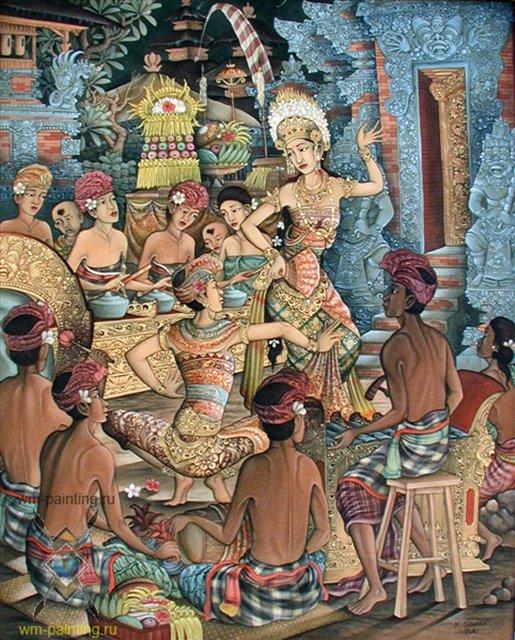 картина Танец олег тамбулилинган :: Суэла ( Индонезия ) - Современная живопись Индонезии фото