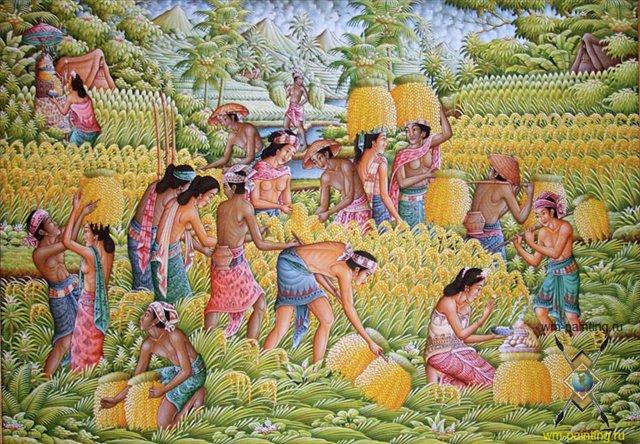 картина Большой урожай :: Сужани ( Индонезия) - Современная живопись Индонезии фото