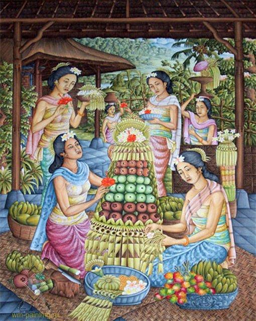 Церемония ::  Судана ( Индонезия ) - Современная живопись Индонезии фото