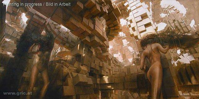 картина Метрополис :: Петер Гриц - Фэнтэзи, сюрреализм, магический реализм фото