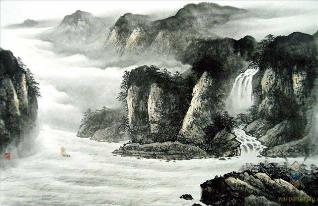Путешествие через горы II :: У Чань Янь ( Ву Чанган) ( Китай ) - Китай традиционная живопись Гохуа фото