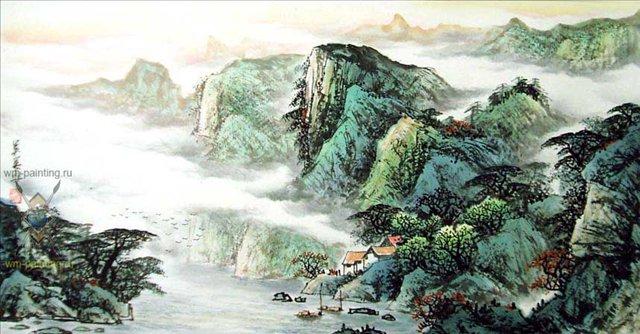 картина Проживая в глубине гор II :: У Чань Янь ( Ву Чанган) ( Китай ), китайская живопись - Китайская живопись, Гохуа фото