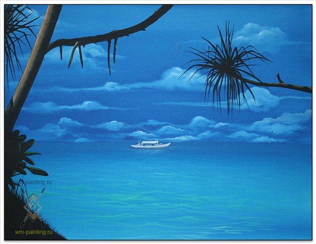 Голубой мир ( бирюзовый мир ) ::  Ана Ахмад ( Бали, Индонезия ) - Морские пейзажи (современная марининстика) фото