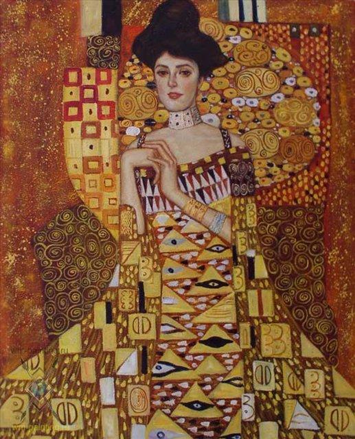 Золотая Адель ( копия картины Климта ) - копии картин Климта фото