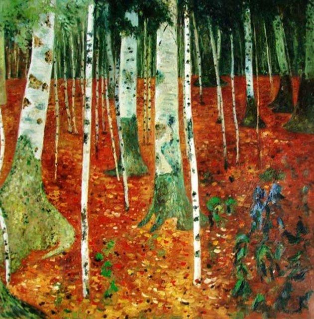 Берёзовая роща ( копия картины Густава Климта ) - копии картин Климта фото